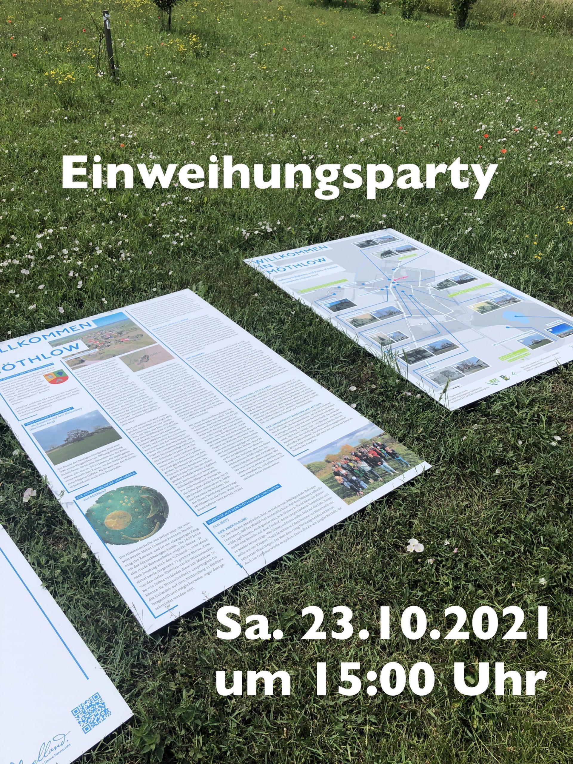 """You are currently viewing Einweihung und Präsentation des KLI Projektes """"Willkommen in Möthlow"""""""
