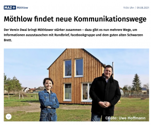 Read more about the article Möthlower Kommunikation in maz-online.de