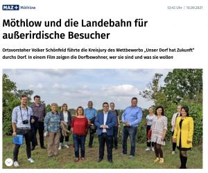 """Read more about the article Möthlow und der Wettbewerb """"Unser Dorf hat Zukunft"""" in maz-online.de"""